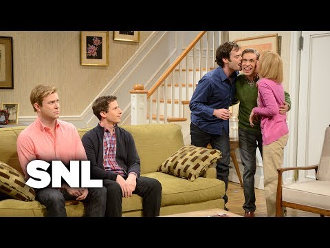 Kissing Family with Andy Samberg  Saturday Night Live