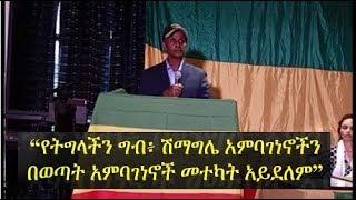 Ethiopia -- Eskinder Nega's full speech in Alexandria, Virginia town-hall meeting
