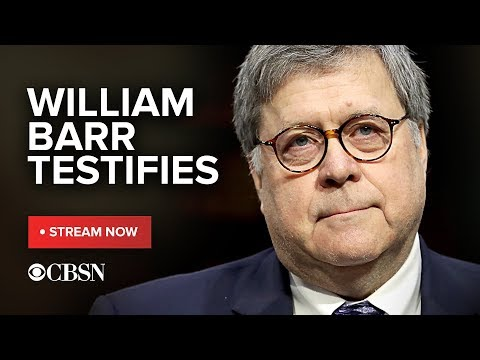 William Barr testifies before congress for first time since receiving Mueller report, live stream