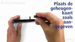 Samsung Galaxy Tab P1000 - Het installeren van de SIM-kaart