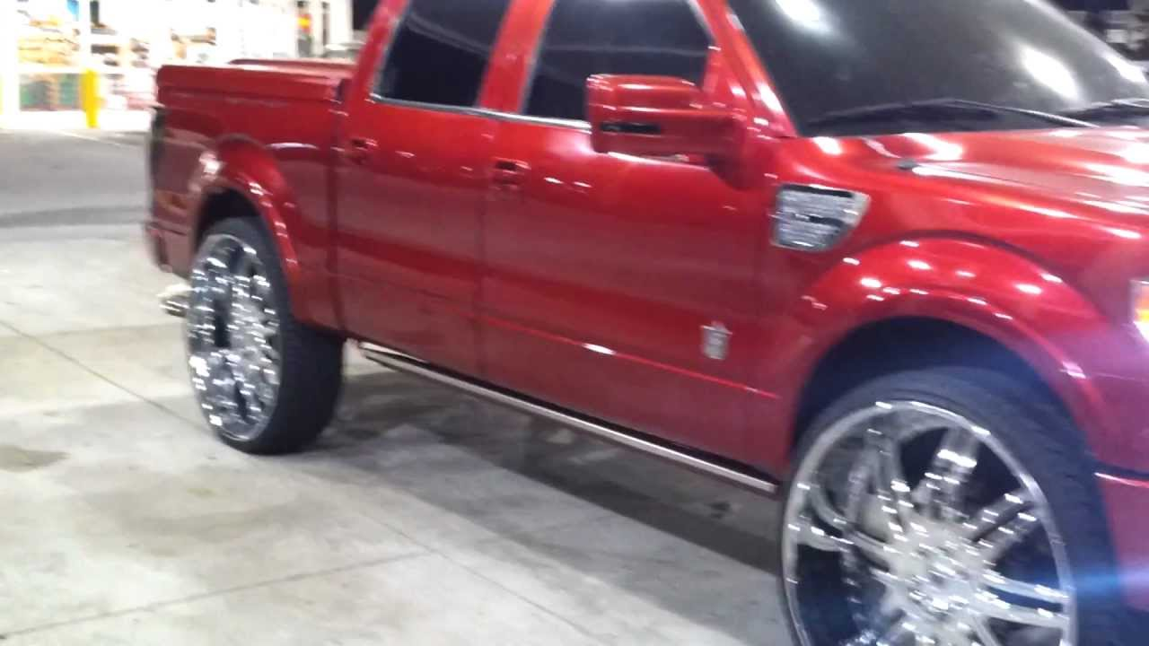"Harley Davidson Prices >> 2011 Candy Red Harley-Davidson F150 on 32"" Asantis - YouTube"
