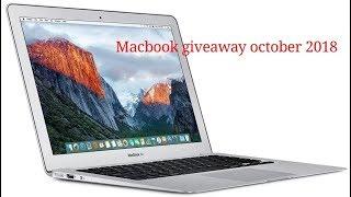 Macbook giveaway open November 2018