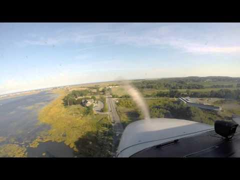Landing at Plum Island Airport (2B2), Newbury, MA. - 09.19.15