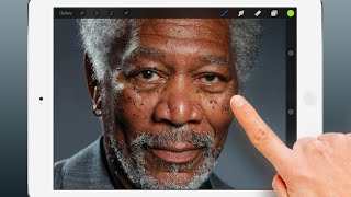 iPad Art - Morgan Freeman Finger Painting thumbnail