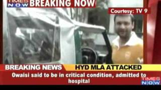 MIM MLA Akbaruddin Owaisi attacked in Hyderabad - Times of India.HD