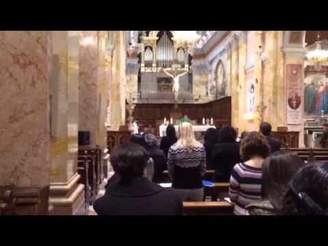 Mass with Local Christians in Jerusalem