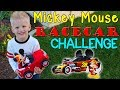 Michael's Mickey Mouse Racecar Challenge!
