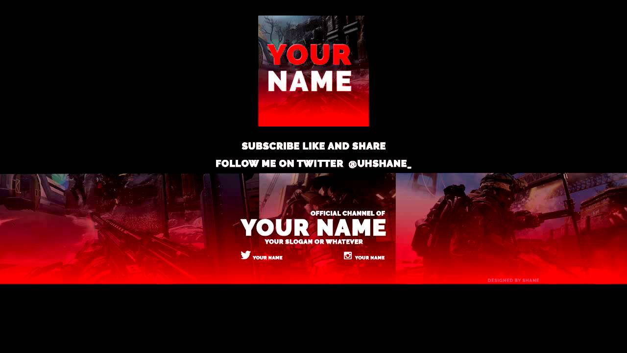 Aw youtube banner and avatar template simple youtube maxwellsz