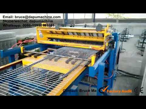 Automatic wire mesh welding machine 120 times/minute - YouTube