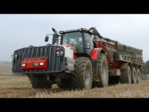 Massey Ferguson 8690 Working Hard in The Field w/ AP-GV 25 & Bomech Boom | Danish Agriculture