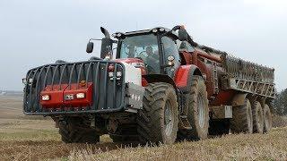 Massey Ferguson 8690 Working Hard in The Field w/ AP-GV 25 & Bomech Boom | Danish Agriculture