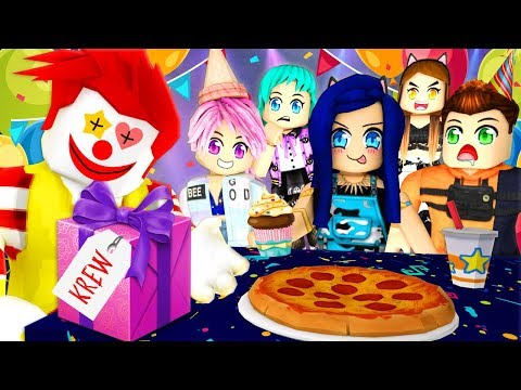 The big surprise... Roblox Birthday Party Story!