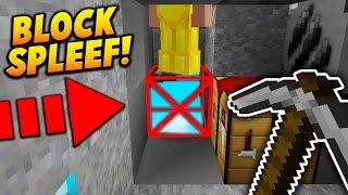 BROKEN BLOCK SPLEEF TROLL! - Minecraft SKYWARS TROLLING! (FASTEST!)