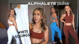 HONEST Alphalete Pulse Collection Review | White Leggings?!