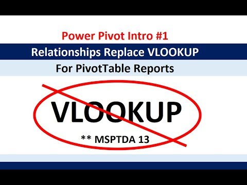 msptda-13:-power-pivot-introduction-#1:-relationships-rather-than-vlookup-for-pivottable-report