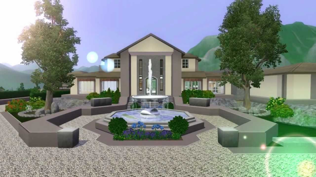The Sims 3 Mansion Design (Ranch) No custom Content - YouTube