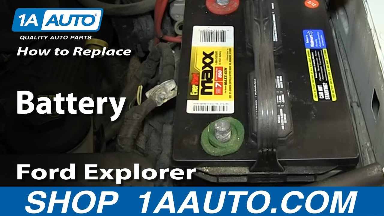 How to replace dead battery 2002 10 ford explorer mercury mountaineer youtube