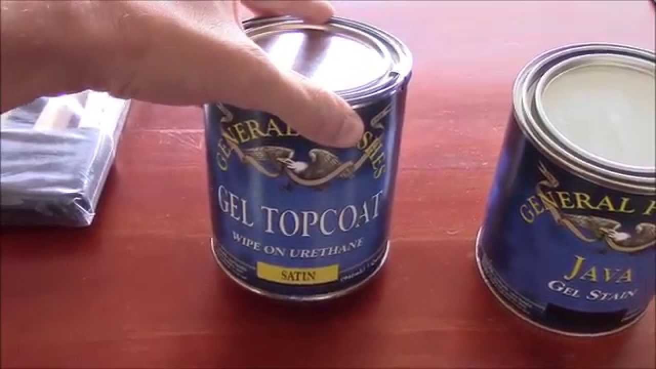 Amazing And Easy Way To Refinish Furniture Or Cabinets Gel Stain You