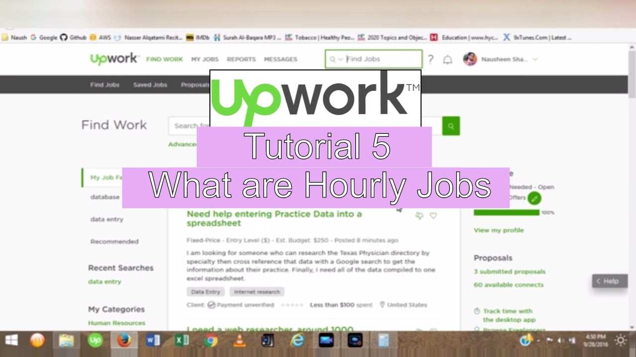 upwork tutorial what are hourly jobs earn easy money online  upwork tutorial 4 what are hourly jobs earn easy money online 2016 2017 urdu hindi tutorial