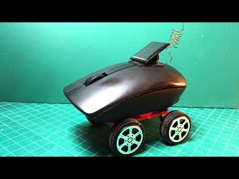How to Make a Solar Powered Car by Computer Mouse | Creative Channel