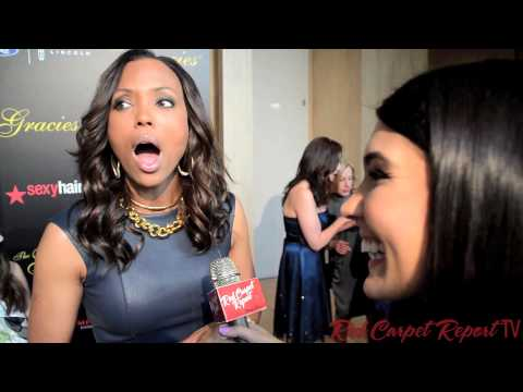 "Aisha Tyler, CBS's ""The Talk"" at the 2014 Gracie Awards #TheGracies #AllWomeninMedia @AishaTyler"