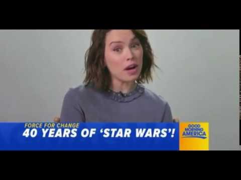 Star Wars 40th Anniversary Preview Clip Mark Hamill Daisy Ridley  - Good Morning America