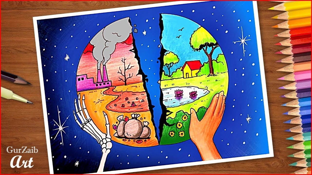 Save Environment Save Earth Drawing Poster Making Ideas For
