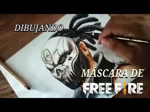 Dibujando Máscara De Calavera Free Fire Bravoart