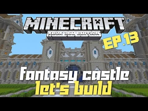 how to build a huge castle in minecraft xbox 360