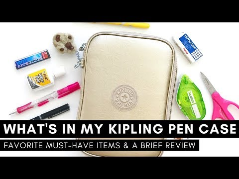 what's-in-my-kipling-100-pen-case-|-favorite-must-have-items-and-a-brief-review