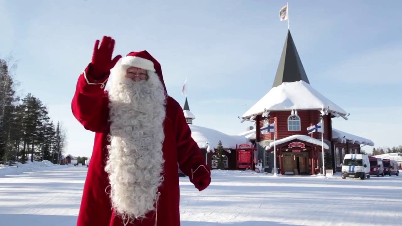 christmas house santa in santa claus village in lapland official