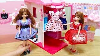 リカちゃん ハートヒルズのおようふくショップ / Licca-chan Doll Fashion Boutique Playset Toy thumbnail