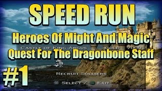 SPEED RUN! Heroes Of M&M Quest For The Dragonbone Staff  #1
