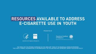 Nearly half of youth who vape want to quit. Pediatric doctors Deepa Camenga, MD, MHS, FAAP, and Susan Walley, MD, NCTTS, FAAP, discuss online and community resources available to help youth quit using e-cigarettes.  For more information, please visit https://www.FDA.gov/tobacco.