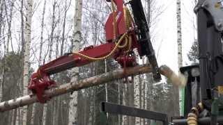 Repeat youtube video Naarva S23 harvester and firewood processor splitting firewood - S23-sykeharvesteri