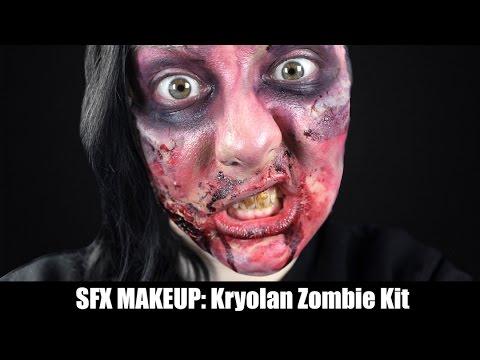 SFX Makeup: das Kryolan Zombie Kit! - YouTube