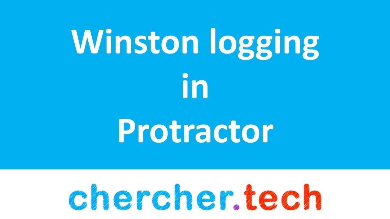 Logging with winston in Protractor | Typescript