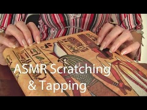 ASMR * Tapping & Scratching * Theme: Egyptian Photo Albums * Fast Tapping * No Talking * A