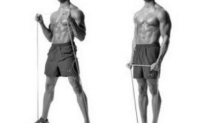 Упражнения на бицепс с эспандером