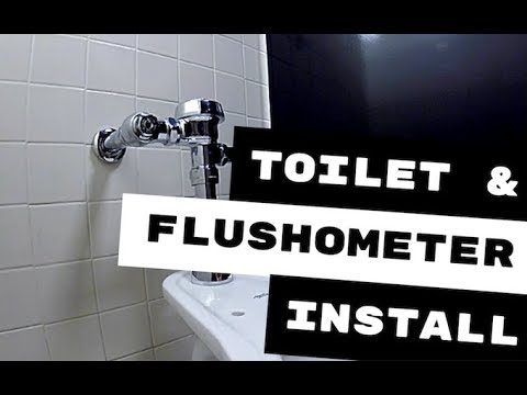 AMERICAN STANDARD TOILET AND SLOAN FLUSHOMETER INSTALL