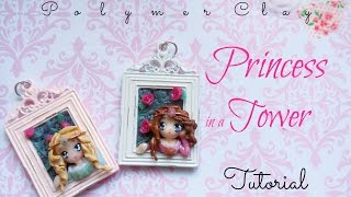 Princess In a Tower Tutorial (Using Polymer Clay and a Bezel)