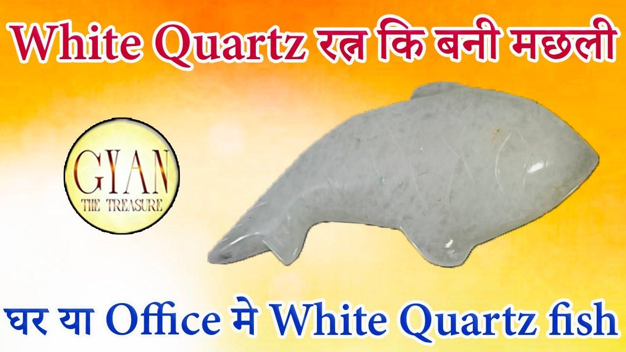 White Quartz रत्न कि बनी मछली किस तरह हमारी किस्मत बदल सकती है ll घर या Office मे White Quartz fish