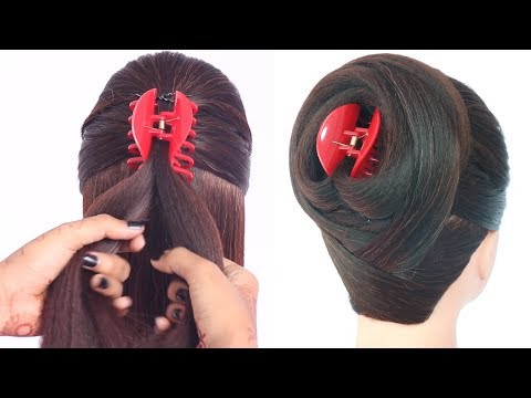 new-latest-juda-hairstyle-with-clutcher-||-cute-hairstyles-||-new-hairstyles-||-ladies-hair-style