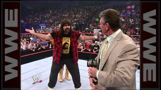 Melina gives Mick Foley a low blow: Raw, Aug. 21, 2006