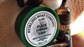 Stirling Black Pepper Lime - Shaving Soap Review