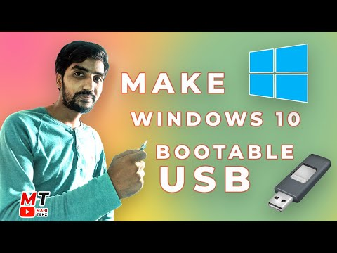 How To Make  Windows 10 Bootable USB Flash Drive For FREE