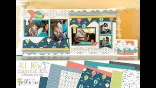 Wild and Free - Scrapbooking Paper