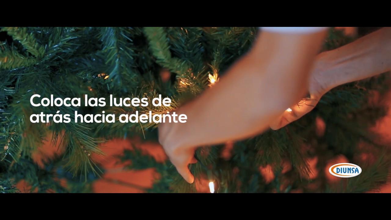 Como ponerle luces a tu rbol de navidad youtube - Luces arbol de navidad ...