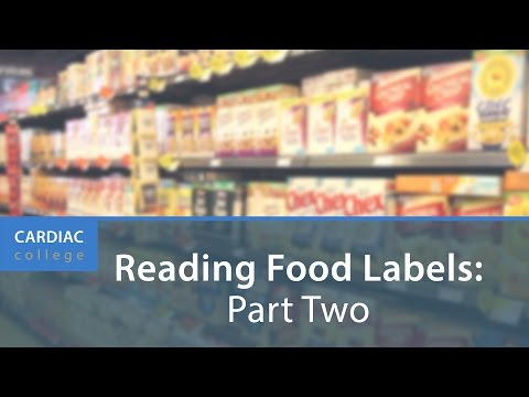 How to Understand Food Labels and Nutrition & Health Claims: Cardiac College
