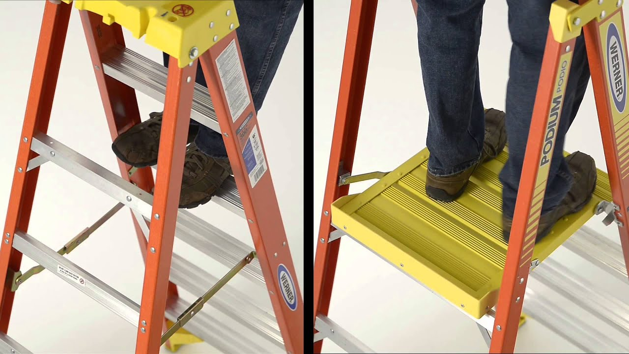 Werner Ladder Pd6200 Series Podium Ladder Features